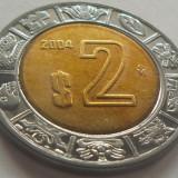 Moneda bimetal 2 Nuevo Pesos - MEXIC, anul 1994 *cod 4877 a.UNC+, America Centrala si de Sud