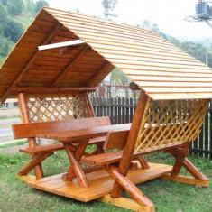 Foisor rustic - Mobila terasa gradina