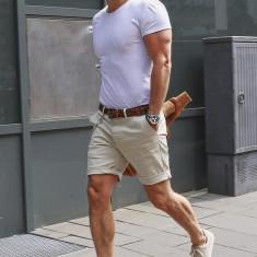 Tricou alb - tricou barbati - tricou slim fit, Marime: S, M, L, XL, Culoare: Din imagine, Maneca scurta