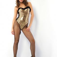 Costumatie Felina Leopard - Lenjerie sexy femei, Bej, L