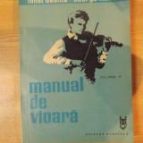 MANUAL DE VIOARA, VOL. IV de IONEL GEANTA, GEORGE MANOLIU, Bucuresti 1986 - Muzica Dance