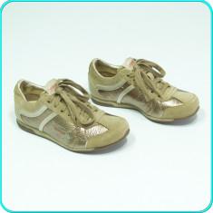 NOI, DE FIRMA → Pantofi sport, din piele, comozi, calitate ESPRIT → fete | nr 30 - Adidasi copii Esprit, Culoare: Bej, Piele naturala