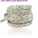 Banda LED SMD5050 DC24V 60LED/m White