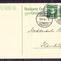 Plicuri si intreguri postale ELVETIA 1914 = CARTE POSTALA CIRCULATA