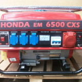 Generator Honda, 5 kw, 220v si 380v, benzina + GPL, NOU!  Transport gratuit