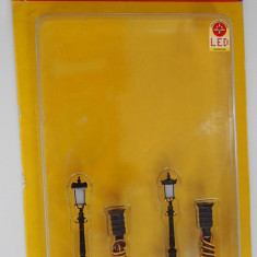 Macheta Brawa 5834 Gas Lamp H0 Diorama Tren Trenulet Altele electric Led Originala Noua, 6-8 ani, Electrice, Plastic, Unisex