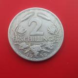 2 SCHILLING 1946-AUSTRIA-Aluminiu-Rarut, Europa