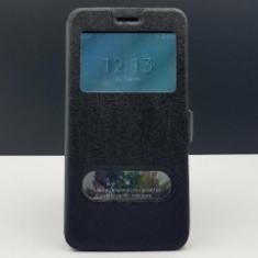 Husa FlipCover Smart View Orange Rise 51 BLACK - Husa Telefon Orange, Plastic, Cu clapeta