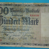 Bancnota Germania  100 Mark, 1922, Munchen