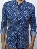 Cumpara ieftin Camasa inflorata  camasa slim fit camasa fashion camasa barbat cod 125, L, M, S, XL, XXL, Maneca lunga