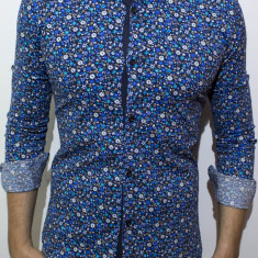 Camasa inflorata  camasa slim fit camasa fashion camasa barbat cod 125, L, M, S, XL, XXL, Maneca lunga, Din imagine