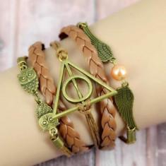 Bratara Harry Potter  - Golden Snitch , Bufnita , Talismanele Mortii - MARO