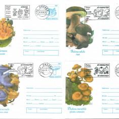 12 Intreguri Postale - hartie velina - stampile tematice - CIUPERCI