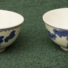 Lot de 2 boluri portelan chinezesc, model floral