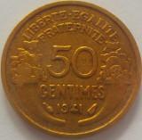 Moneda 50 Centimes - FRANTA, anul 1941 *cod 4909 xF+, Europa