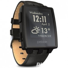 Ceas Smartwatch Pebble Steel Black L165 - Pebble Smartwatch