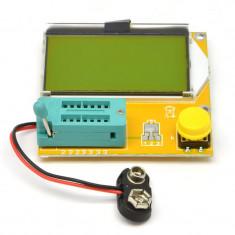 Tester Componente ESR Metru RLC 9v Rezistente Capacimetru Inductante V2.68