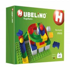 Tobogan cu bile Hubelino, Mini Kit 45 piese, compatibil Duplo® - Jocuri Seturi constructie