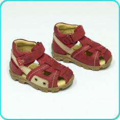 DE CALITATE → Sandale din piele, comode, aerisite, ELEFANTEN → fete | nr. 20 - Sandale copii Elefanten, Culoare: Visiniu, Piele naturala