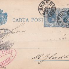 ROMANIA CARTE POSTALA CIRCULATA 1885 - Carte postala tematica, Printata