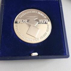 Medalie mare argint puritate 986 - 1978 - 30 gr, Europa