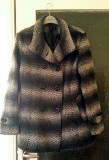 REDUCERE! Palton negru cu gri, elegant, modern, marime S/M, primavara-toamna, Multicolor