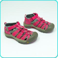 DE FIRMA → Sandale din piele+textil, protectie, de calitate, KEEN → fete | nr 31 - Sandale copii Keen, Culoare: Roz, Piele naturala