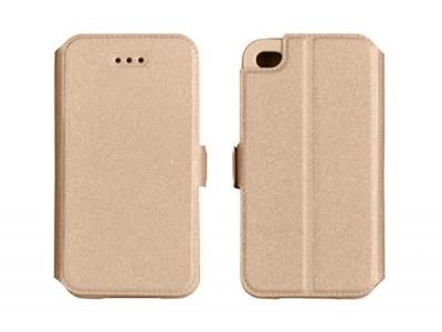 Husa Lenovo P2 Flip Case Slim Inchidere Magnetica Gold foto