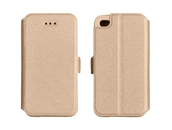 Husa Lenovo P2 Flip Case Slim Inchidere Magnetica Gold