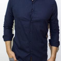 Camasa bleumarin de in -camasa slim fit camasa in camasa barbat cod 121