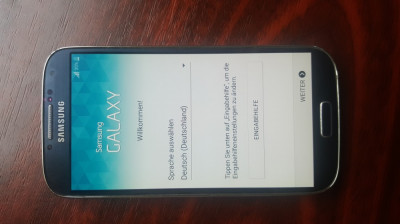 Samsung Galaxy S4 16GB Albastru Touch Screen nefunctional foto
