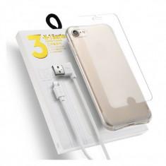 Kit Samsung Galaxy A5/2016 - Husa Telefon Atlas, Transparent, Plastic, Husa