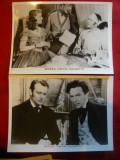 "2 Fotografii film ""Secera vantul salbatic"" cu John Wayne, Paulette Goddart 1942"