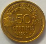 Moneda istorica 50 CENTIMES - FRANTA, anul 1939 *cod 4906, Europa