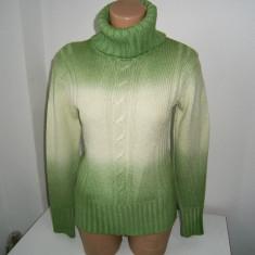 Pulover dama pe gat, verde, marimea M, stare buna!, Marime: M, Culoare: Din imagine
