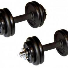Set gantere 30 kg (2 x 15 kg) din fonta