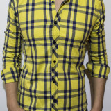 Camasa - camasa slim fit camasa carouri camasa barbat cod 119, L, XL, Maneca lunga, Din imagine