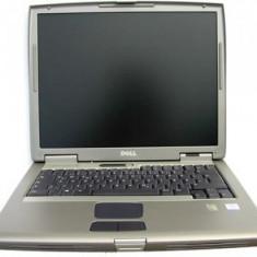 Laptop Dell Latitude D505, Intel Pentium M 1.6 GHz, 256 MB DDRAM, lipsa HDD, DVDRW, WiFi, Tastatura Qwerty, baterie Li-Ion, Displa