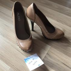 Pantofi de dama din piele ALDO - Pantof dama, Culoare: Maro, Marime: 37
