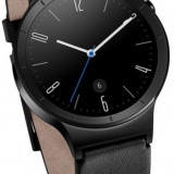 "Smartwatch Huawei Watch W1, Amoled 1.4"", 512MB RAM, 4GB Flash, Bluetooth, Bratara piele 42mm, Carcasa din Otel Inoxidabil (Negru)"