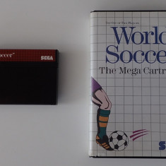Caseta Joc World Soccer The Mega Cartridge Sega Master System Game original - Jocuri Sega, Sporturi, 3+, Multiplayer