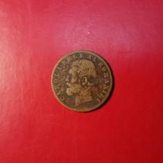 ROMANIA - 5 BANI 1885 - STARE FOARTE SLABA - Moneda Romania
