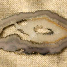 Felie agat slefuit 2 - Fosila roca