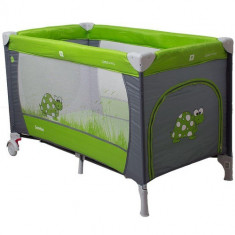 Pat Pliant Samba Gri-Verde - Patut pliant bebelusi Coto Baby, 125X65cm