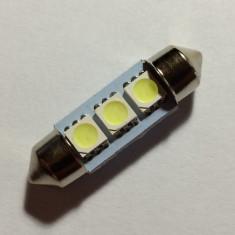 Led auto Sofit Festoon C5W, 36 mm, 3 SMD-uri, 12 V, ALB