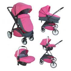 Carucior multifunctional 3 in 1 Neptune Pink Pierre Cardin - Carucior copii 3 in 1