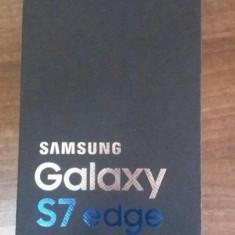 Vand Samsung Galaxy S7 Edge Gold sigilat cu garantie la Orange - Telefon Samsung, Auriu, 32GB, Single SIM