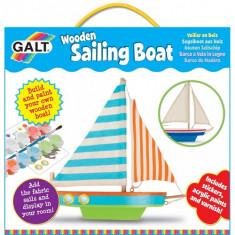 Wooden Sailing Boat - Kit Barca din Lemn cu Vele - Jocuri arta si creatie Galt