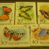 UNGARIA 1959 – FLUTURI, serie DEPARAIATA stampilata, UA147 - Timbre straine