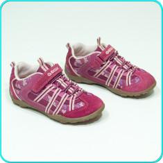 DE FIRMA → Pantofi sport / adidasi, aerisiti+impermeabili, GEOX → fete | nr. 28 - Pantofi copii Geox, Culoare: Roz, Piele naturala